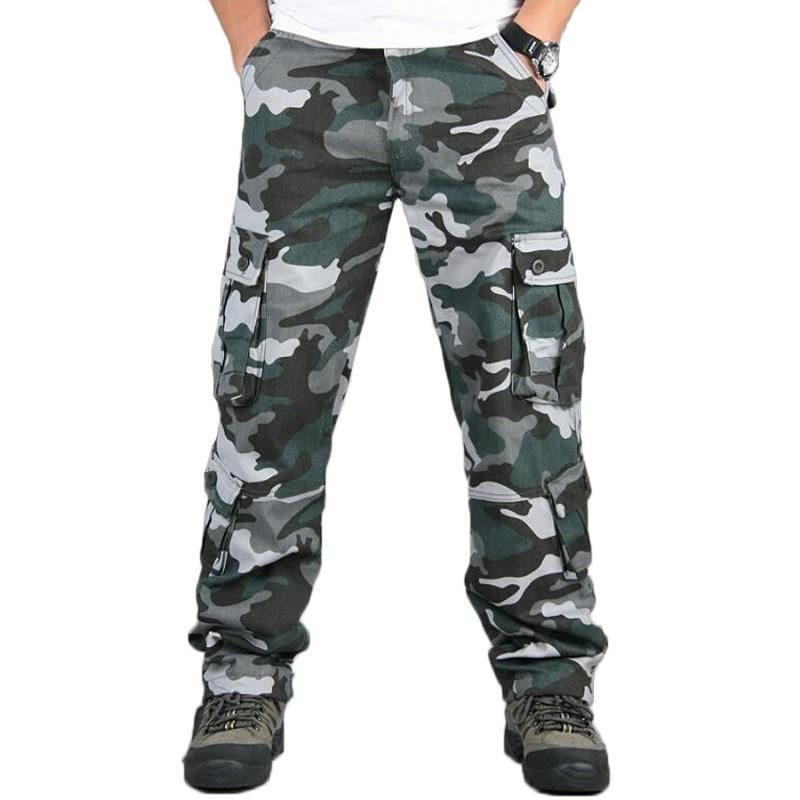 Камуфляжные мужские брюки карго в стиле милитари, с несколькими карманами, в стиле хип хоп, для бега, городская одежда, камуфляжные тактические брюки, оптовая продажа|Повседневные брюки|   | АлиЭкспресс