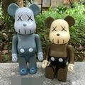 Nova Figura de Ação 400% Be @ rbrick Bearbrick Cos Kaws Boneca Urso PVC ACGN figura Brinquedo Brinquedos Anime