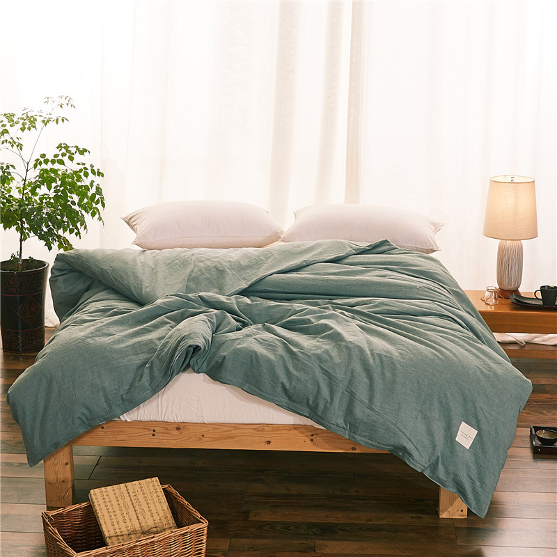 Fashion Pure Green Home Quilt Cover 100% Cotton Comforter Cover Printed Bed Duvet Cover 150cm*200cm/160cm*210cm/200cm*230cm 1Pc