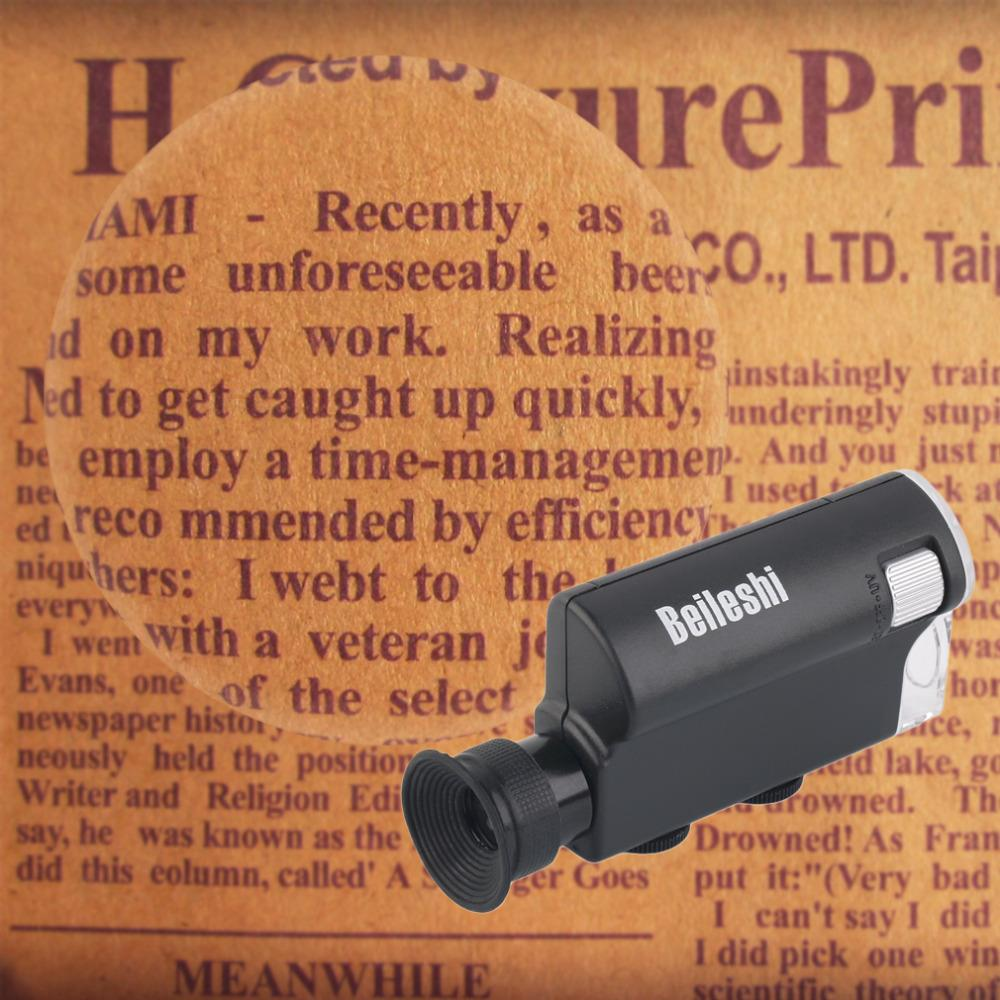 2017 m. NAUJAS Mini nešiojamas mikroskopo kišenė 200X ~ 240X - Matavimo prietaisai - Nuotrauka 3