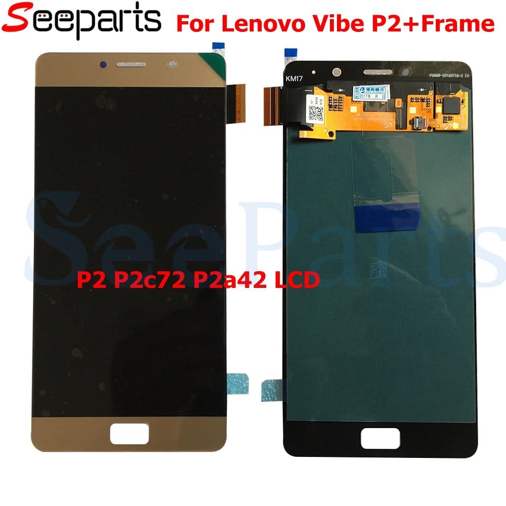 LCD d'origine pour 5.5 Lenovo Vibe P2 LCD écran tactile numériseur assemblée avec cadre pour Lenovo P2 P2c72 P2a42 LCD