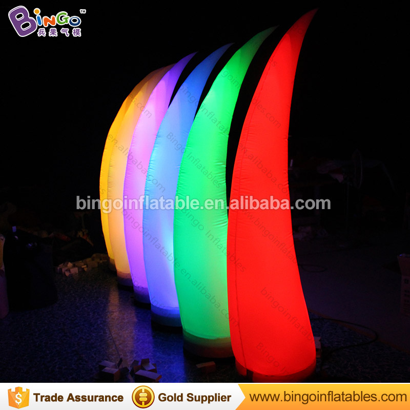 GREAT HANDWORK 2.5m inflatable ivory shape model lamp decoration blow up colorful lighting tube pillar custom made for displayGREAT HANDWORK 2.5m inflatable ivory shape model lamp decoration blow up colorful lighting tube pillar custom made for display