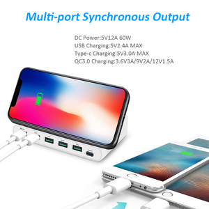 Image 4 - STOD Multi USB Port Wireless Charger 60W Charging Station Quick Charge 3.0 Holder For iPhone X Samsung Huawei Nexus Mi Adapter
