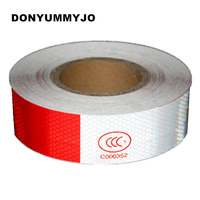 50M Safety Mark Reflective Tape Stickers Red White Diagonal Strip Motorcycle Stickers Automobiles Moto Reflective Material