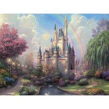Artsailing фотографии по номерам Золушек замок Томас картины по номерам акриловыми красками на холсте сделай сам оформлена NP-305