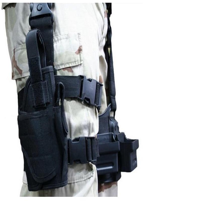 Gjuetia në natyrë Taktike Puttee Kofshë e këmbës për Gun - Magazinimi dhe organizimi në shtëpi