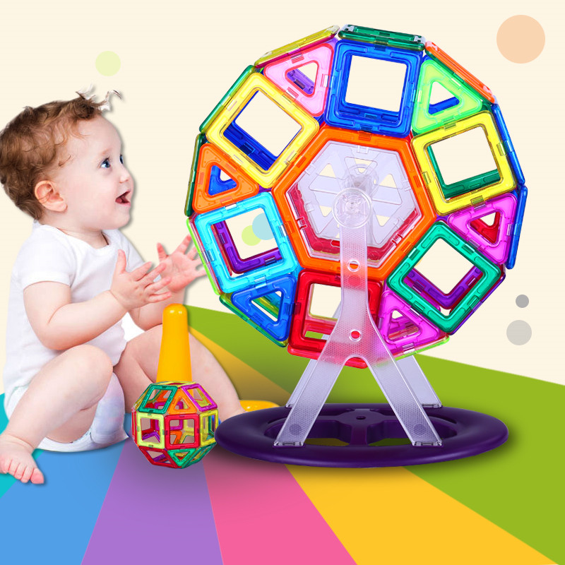 Free shipping 100 Pcs 149 pcs Magic Building Block Magnetic Toys Preschool Skills Educational Game Construction Stacking B dayan gem vi cube speed puzzle magic cubes educational game toys gift for children kids grownups