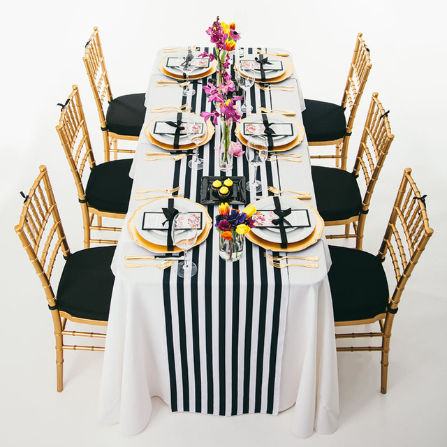Aliexpress Buy 10pcs 14 X 108 Black And White Striped Table