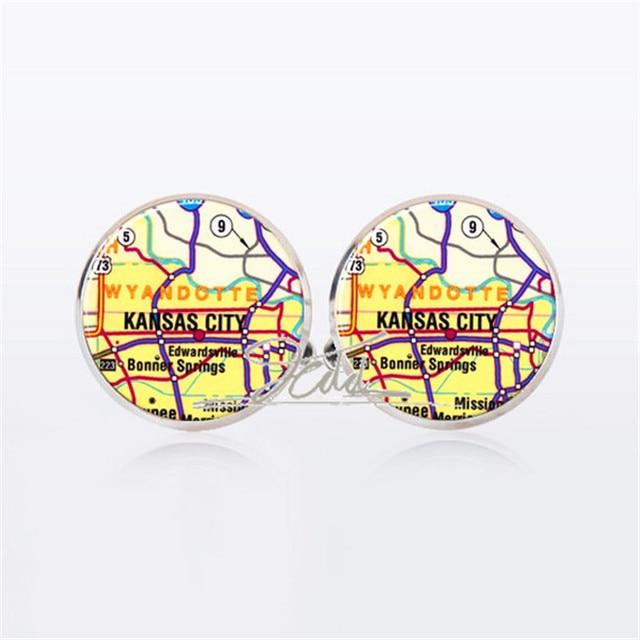 World map cufflinks usa kansas city map wolrd map vintage map world map cufflinks usa kansas city map wolrd map vintage map jewelry choose location one or gumiabroncs Choice Image
