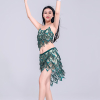 Bellydance Costume Sequin Tops Skirt Sets Women Orientale Bollywood Clothes Belly Dancing Outfits Lady Performance Wear DNV10774