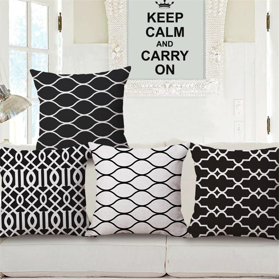 Black And White Geometric Modern Simple Decorative Sofa ...