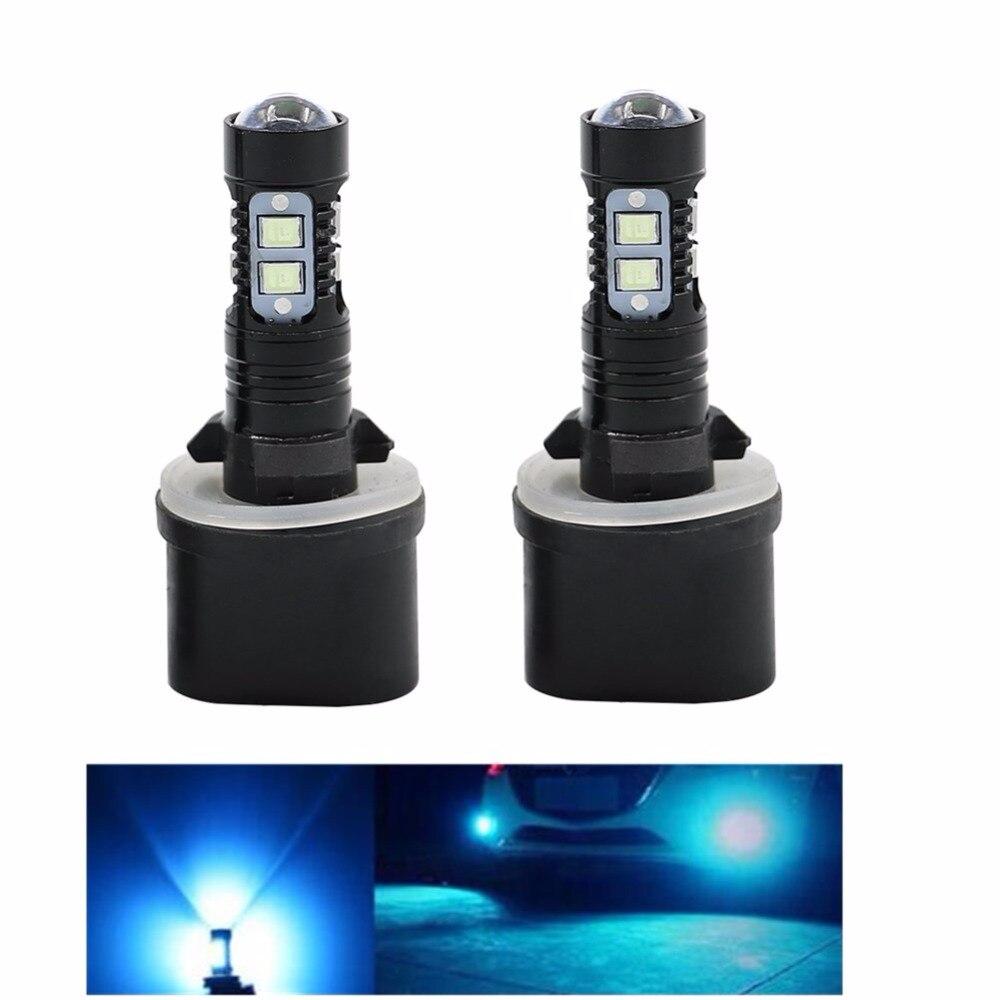 2x880 890 892 893 899 50 watt 8000 karat EIS BLAU Auto Lkw Nebel Lampen Beleuchtung LED Projektor fahren Lichter Lampen Ersatz