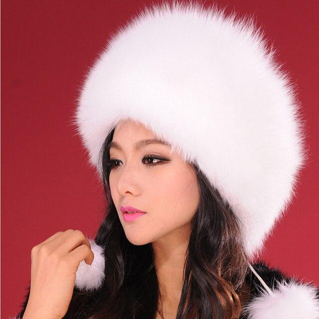 13602 vera pelliccia di volpe cappello beanie fascinator tappo testa calda  turbante chemio cosacco manicotto dell  14245cbac08c