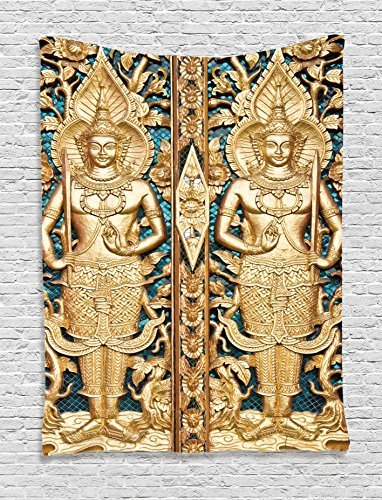 Rustic Decor Thai Gate At Wat Sirisa