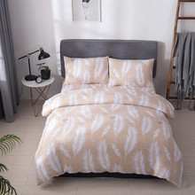 Solstice Simple Bedding Set Floral Leaves Comfortable Bed Linens Home Textile US Twin Queen Duvet Cover for Adults