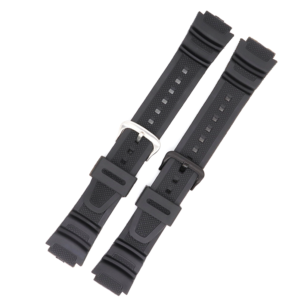 18mm Silicone Rubber Black Watchband For Casio Band Men Women Sports Diving Strap Replacement Wristwatch Belt in Watchbands from Watches