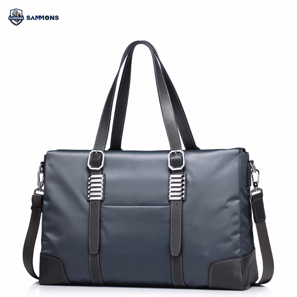 купить SAMMONS Brand Design Fashion Waterproof Nylon Business Casual Large Men Handbag Shoulder Bag Crossbody Travel Bags недорого