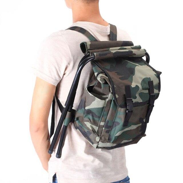 Рыболовный стул складной стул рюкзак камуфляжная сумка портативный складной стул  рюкзак Открытый двухфункциональный рыболовный мешок и 6abe7660781