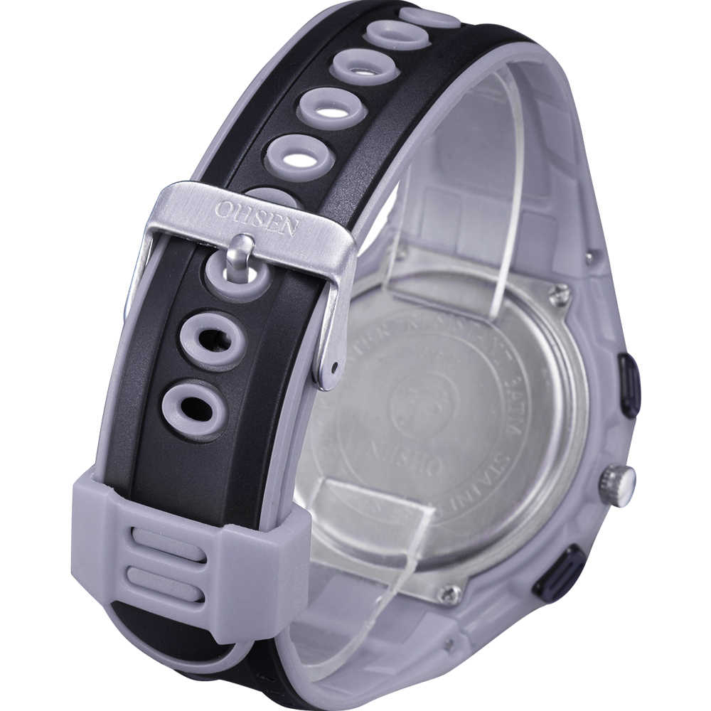 Free Shipping OHSEN Mens Waterproof Sport Watch LED Backlight Alarm Analog & Digital Multifunction Watch  AD1309