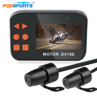 Fodsports 2.7 Inch 1080P DV188 Motorcycle DVR Dual Waterproof Lens Motorbike Action Sports Camera Video Recorder Night Vision