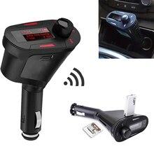 LCD Car mp3 reproductor de Música Inalámbrico de FM Transmisor SD tarjeta de memoria MMC Con Control Remoto de COCHES de alta quanlity Rojo Reproductor de Mp3 Para Auto