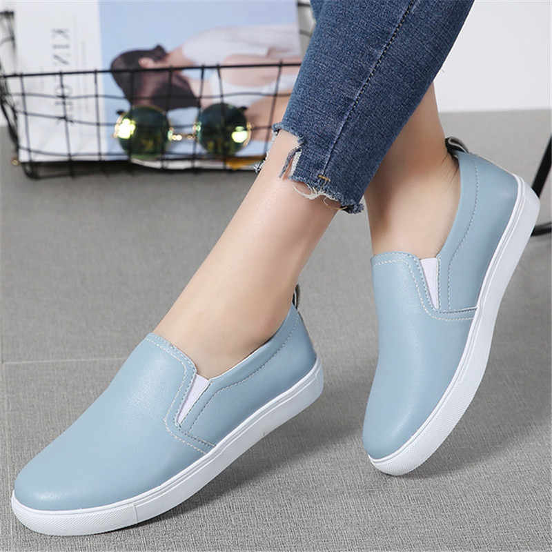 612be7070 ZOQI New Silver Flat Shoes Women Leather Casual Loafers Floral Walking Shoes  Woman Moccasins Creepers Plus