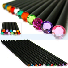 12Pcs/lot HB Pencil Diamond Color Pencil Stationery Items Drawing Supplies Cute Pencils Basswood Office School Supplies rotary hammer kraton rh 1050 38s