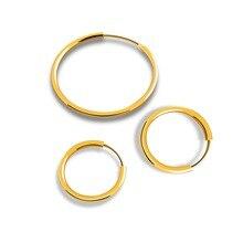 Trendy Gold Color 925 Sterling Silver Hoop Earrings Round Circle Geometric Huggie Earring Minimalist Vintage Wedding Jewelry