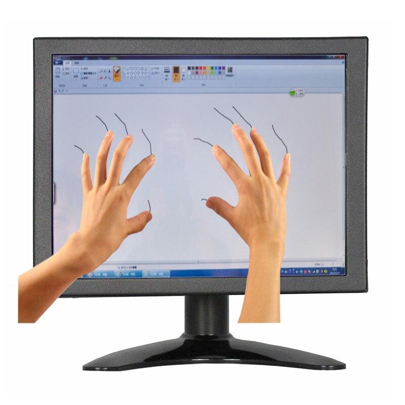 ZHIXIANDA Mini LCD 8 inch PCAP Desktop Touch Screen Monitor 1024*768 4:3 Screen Ratio PCAP Touch Monitor with VGA/HDMI/USB 8 4 inch lm bj53 22ndk lcd screen