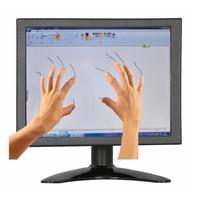 ZHIXIANDA Mini LCD 8 inch PCAP Desktop Touch Screen Monitor 1024*768 4:3 Screen Ratio PCAP Touch Monitor with VGA/HDMI/USB