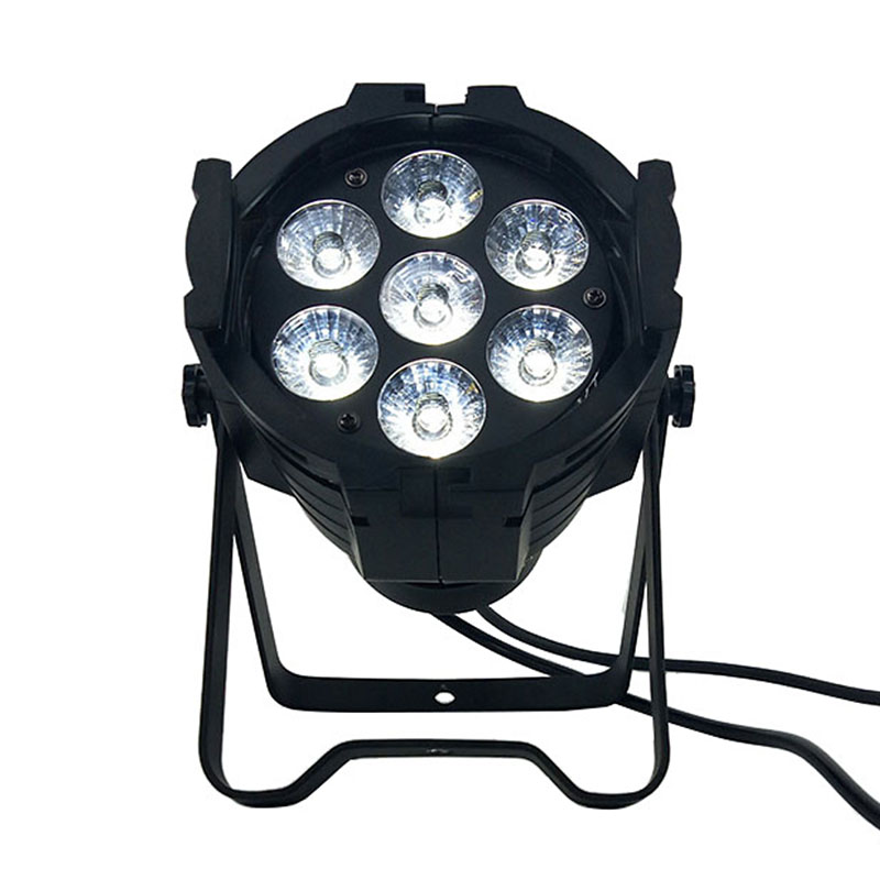 Mini Aluminum alloy LED Stage Lighting 7x18W RGBWA+UV 6in1 Professional DMX512 For Disco DJ Music Party KTV Nightclub Lights moving head led wash stage lighting 7x18w rgbwa uv 6in1 birthday dmx512 for disco dj music party ktv nightclub lights