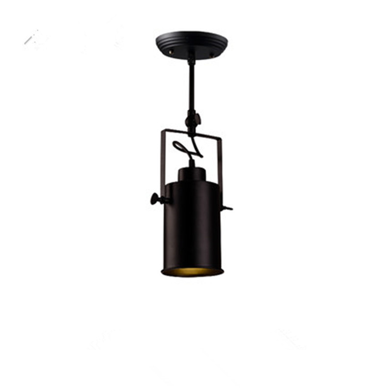 Loft Black Metal LED Living Room Ceiling Light Cafe Cloth Store Down Light Corridor Light With