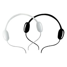 car styling headset car Sticker Super Cool headset Zinc Body Sticker Car Metal Sticker Racing Decal Docerstyle stylish