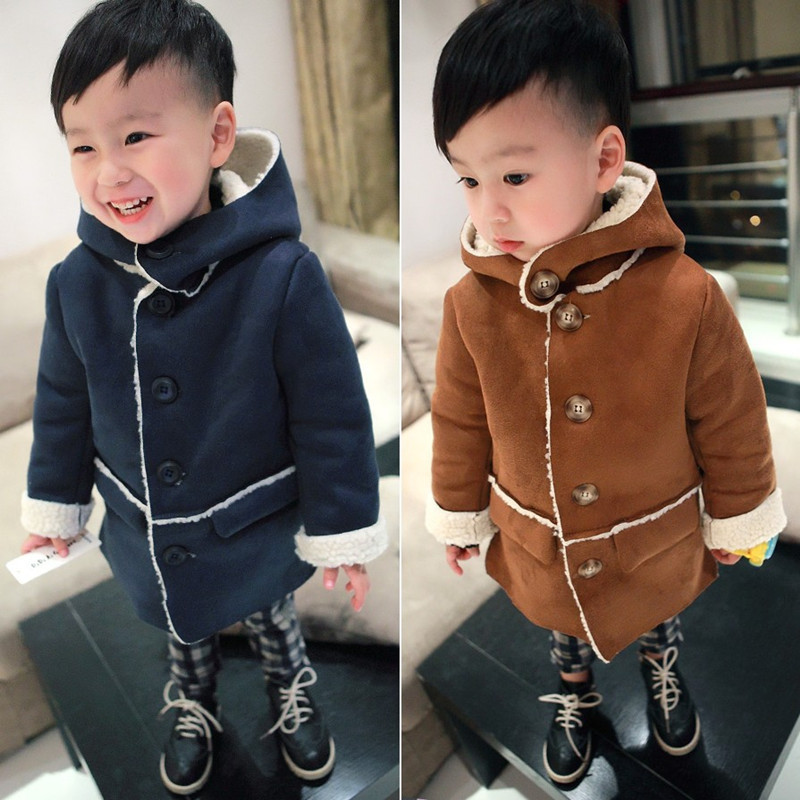 2016 Boys Winter Jackets Coat Autumn Winter Kids Wool Outerwear Girl Coat Children Clothing Baby Clothes