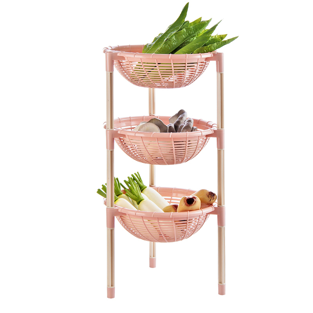 Diy 4 Tier Kitchen Vegetable And Fruit Floor Racks Organizer Stand Holder For Tableware Storage Shelf