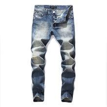 2017 Famous Original Dsel Brand Men Jeans,Blue Straight Denim Button Fly Jeans Men,High Quality Men Pants Plus Size 29-40!982-3 jeans men 2017 new arrival brand clothing blue slim fit casual denim pants high quality plus size free shipping