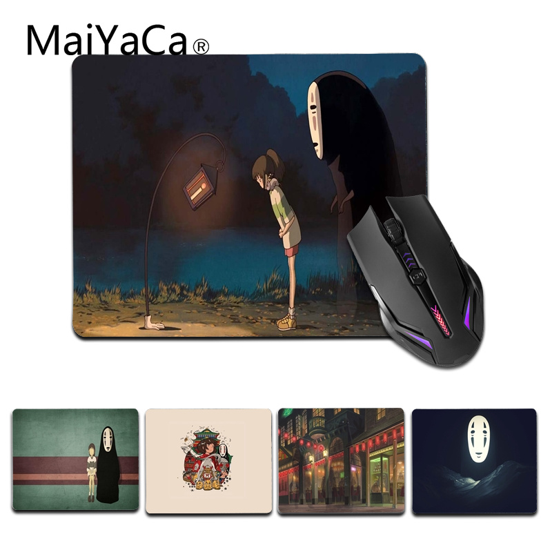 MaiYaCa 2018 New No Face Spirited Away Customized laptop Gaming small mouse pad Size for 25X29cm Silicon Mousemats