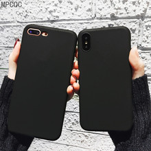 Black Matte cases For iPhone 6 6s 7 8 Plus x Clear Silicon Soft TPU Case For iPhone x xs max xr Anti-knock Protection Phone Case