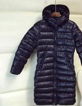 90% белая утка вниз с капюшоном парки 2016 Европейской и Американской моды Mocl тонкий куртка толще длинный теплый пуховик w1154