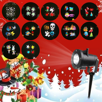 Waterproof 12 Patterns Outdoor Holiday Projection Light Christmas Lamp Indoor Outdoor Laser Light For Xams Halloween's Day
