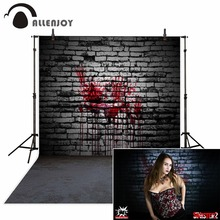 Allenjoy Halloween Background Brick Wall Bloodstained Faint Photo background for baby backdrop studio funds