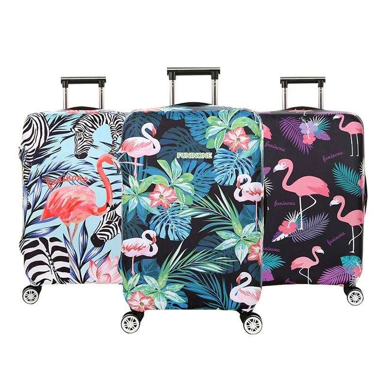 Flamingo Pattern Luggage Cover Women's Travel Suitcase Protective Dust Covers Traveling Trolley Accessoires Items Gear Supplies