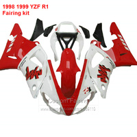 For YAMAHA YZF R1 98 99 yzfr1 ( Red & white ) Free shipping Abs Fairing kit Fairings ll29