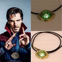 NEW Doctor Strange Pendant Eye Of Agamotto GLOW IN THE DARK Necklace Dr Marvel