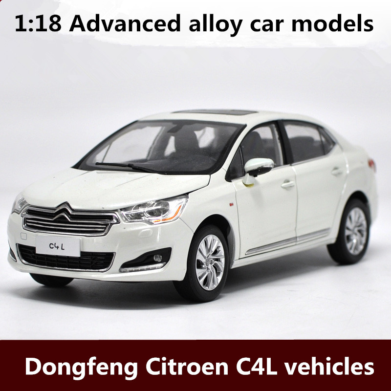 1:18 Advanced alloy car models,high simulation Dongfeng Citroen C4L vehicles model,metal diecasts,toy vehicles,free shipping bburago 360 challengr 1 24 alloy car model toys diecasts