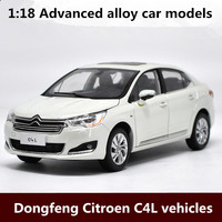 1:18 Advanced alloy car models,high simulation Dongfeng Citroen C4L vehicles model,metal diecasts,toy vehicles,free shipping