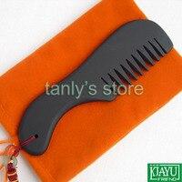Wholesale and Retail Black Bian Stone Massage Guasha comb /Natural Bian-stone health care/Healthcare 155x50mm