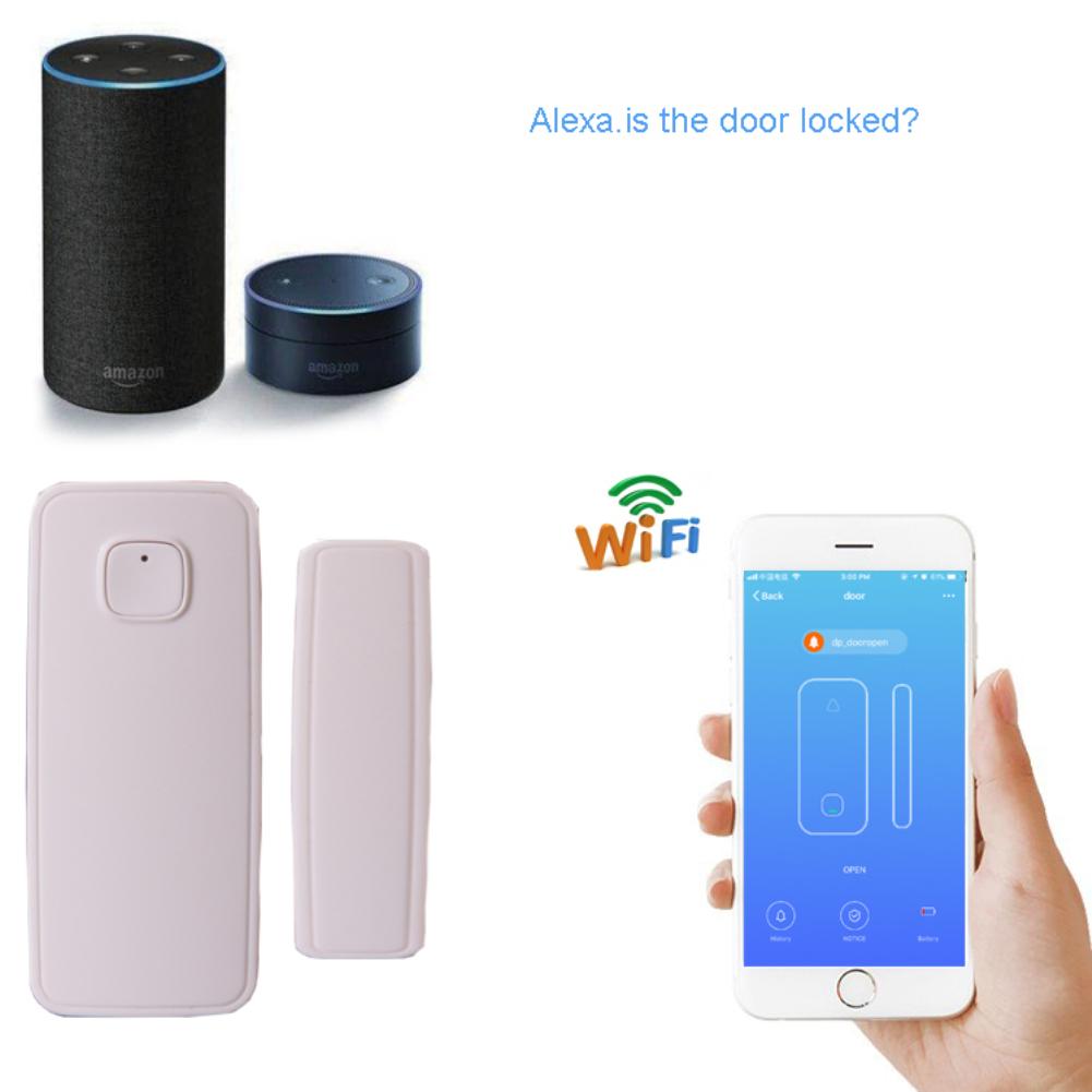 HTB1q0K4mMHqK1RjSZFgq6y7JXXaq - Magnetic Sensor Wireless Door Window Alarm System For Home Security Wifi Door Open Switch Detector with Alexa Echo Google Home