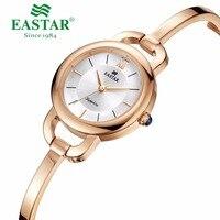 Eastar Women Watch Bracelet Rose Gold Fashion Silver Bangle Quartz Stainless Steel Case Waterproof Sapphire Crystal Dial