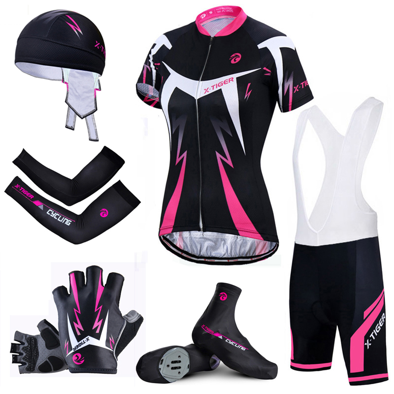 X-Tiger Top Quality Women Cycling Set Mountain Bicycle Cycling Clothing Summer Quick-Dry Cycling Jersey Breathable Bike Clothing